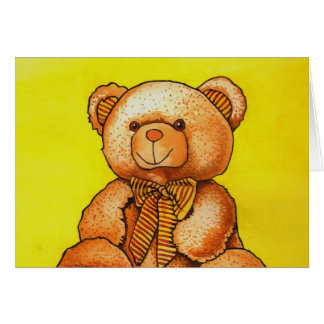 Cartes ours en peluche avec un noeud papillon