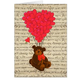 Cartes Ours et coeur de nounours