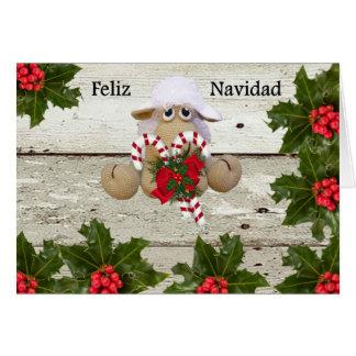 Cartes Ovejita de crochet pour féliciter la Noël