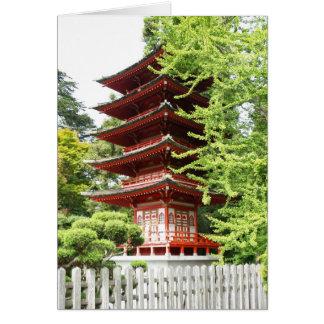 Cartes Pagoda en bois bouddhiste