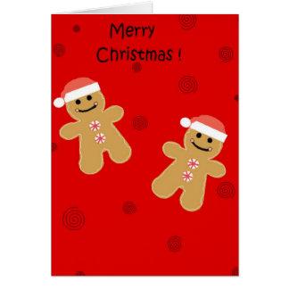 Cartes Pain d'épice de Joyeux Noël