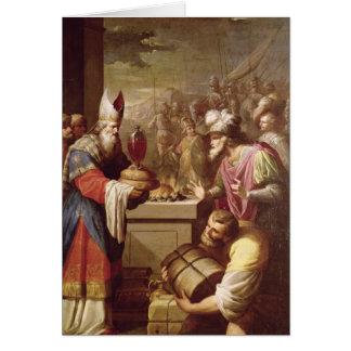 Cartes Pain et vin de offre de Melchizedek