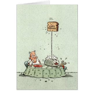 Cartes Pain grillé d'anniversaire