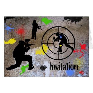 Cartes Paintball de guérillero urbain invité