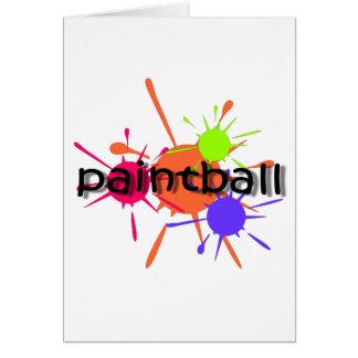 Cartes Paintball frais