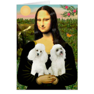 Cartes Paires de caniche (w) - Mona Lisa