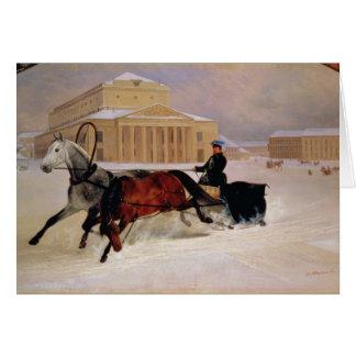 Cartes Paires de Polonais avec un cheval de trace chez
