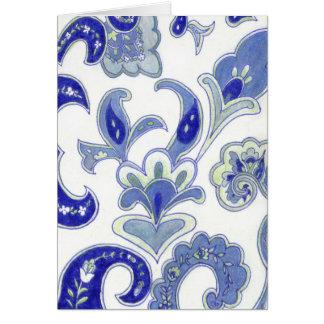 Cartes Paisley bleu