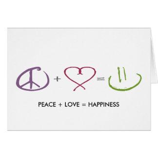 Cartes Paix + Amour = bonheur