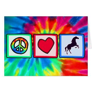 Cartes Paix, amour, chevaux