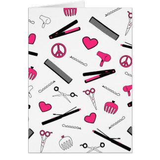 Cartes Paix, amour, et accessoires de cheveux (rose)