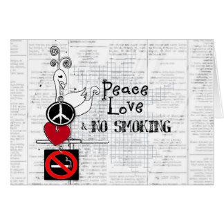 Cartes paix - amour et NON-FUMEURS