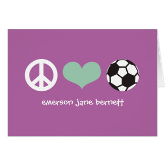Cartes Paix, amour, pourpre du football