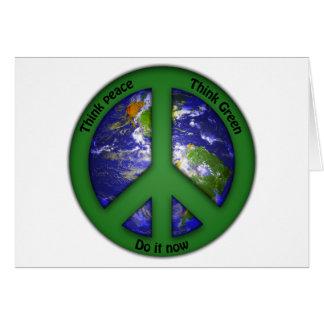 Cartes Paix du monde - vert du monde