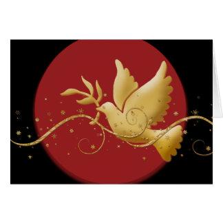 Cartes Paix élégante de colombe de vacances de Noël