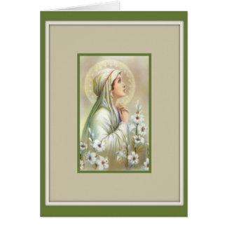 Cartes Paix mentale de lis de Vierge Marie Madonna