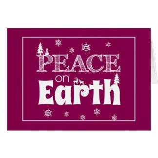 Cartes Paix sur Noël de la terre