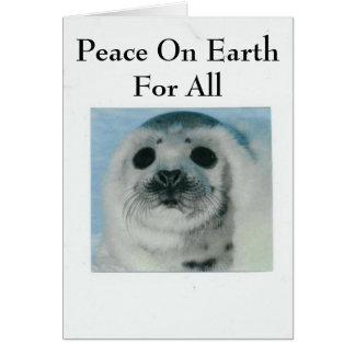 Cartes Paix sur terre pour tous