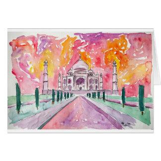 Cartes Palais de l'Inde au coucher du soleil