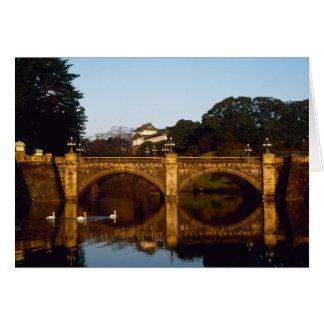 Cartes Palais impérial, pont de Nijubashi, Tokyo, Japon