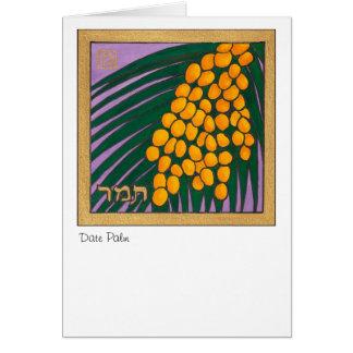 Cartes Palmier dattier, une des sept espèces de l'Israël
