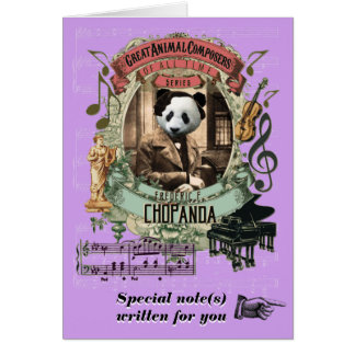 Cartes Panda animal drôle de compositeur de Chopanda de