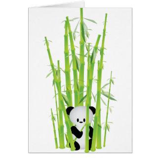 Cartes Panda de bébé dans la forêt en bambou
