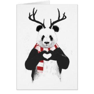 Cartes Panda de Noël