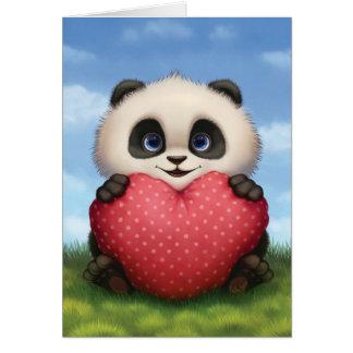Cartes Panda de Valentine