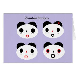 Cartes Panda de zombi hé