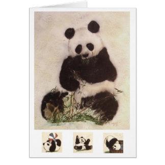 Cartes panda espiègle