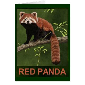 Cartes Panda rouge