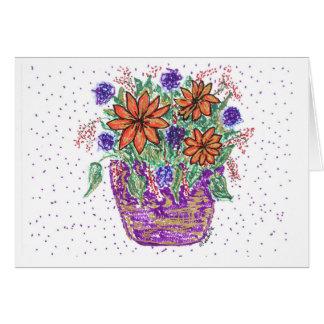 Cartes Panier de fleur de ressort