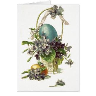 Cartes Panier vintage de Pâques