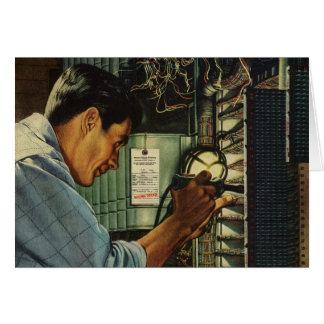 Cartes Panneau de disjoncteur vintage d'électricien