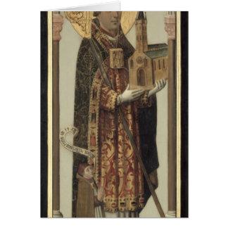 Cartes Panneau votif dépeignant St Ansgar, 1457