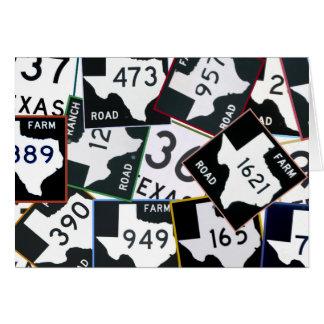 Cartes Panneaux routiers du Texas