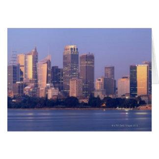 Cartes Panorama d'horizon de Sydney au coucher du soleil,