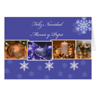 Cartes Papa de la maman y de Feliz Navidad