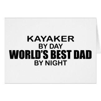 Cartes Papa du monde de Kayaker le meilleur par nuit
