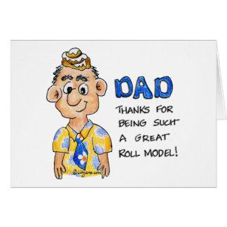 Cartes Papa, merci pour être un si grand modèle de petit