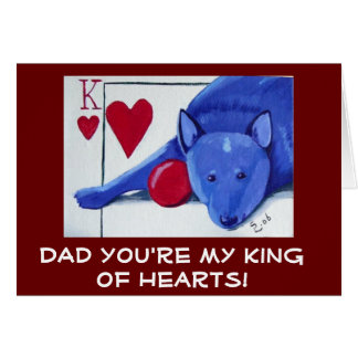 Cartes PAPA vous êtes mon roi des coeurs