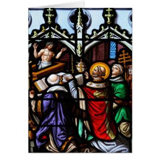 Cartes Pape Saint Gregory la grande masse donnante