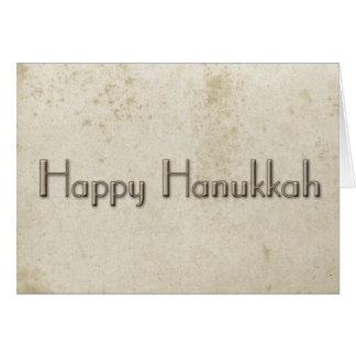 Cartes Papier souillé par cru heureux simple de Hanoukka