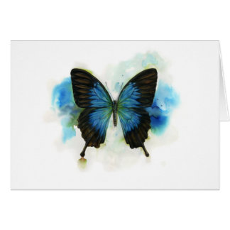 Cartes Papillon bleu toute papeterie d'occasion