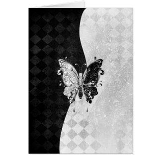 Cartes Papillon de deux tons