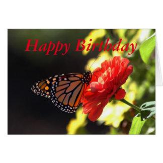 Cartes Papillon de monarque de joyeux anniversaire sur le