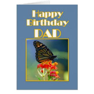 Cartes Papillon de monarque de papa de joyeux