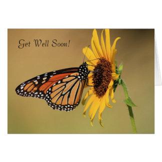 Cartes Papillon de monarque sur le tournesol jaune
