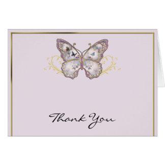 Cartes Papillon de parties scintillantes sur le Merci de